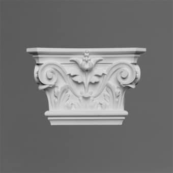 K201 Pilastertopp 22.8x6,2x14,9cm Orac Decor Pilaster